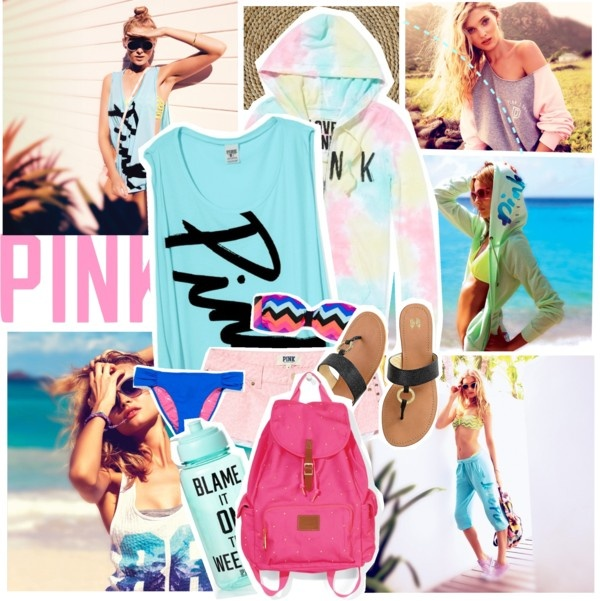 """""""Get Ready For Summer Time Fun With Pink!"""" by nomieissoepic ❤ liked on Polyvore"""