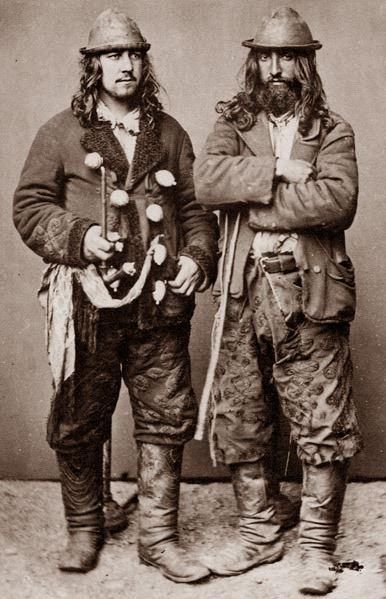 """authenticfauxhemian:    Kalderash men. 1865. A photo from J.Ficowsky's book """"Gypsies in Poland""""."""