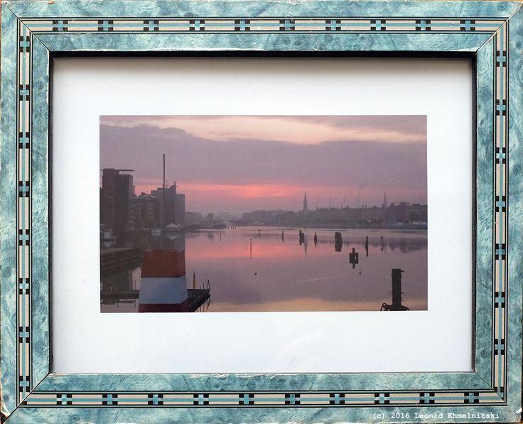 Pink Sunrise Blue Frame