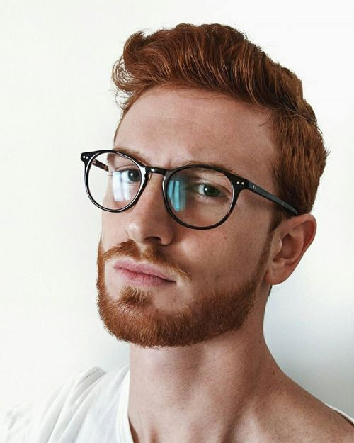 Red Haired Guy With Beard Amp Round Eye Glasses Ginger Men