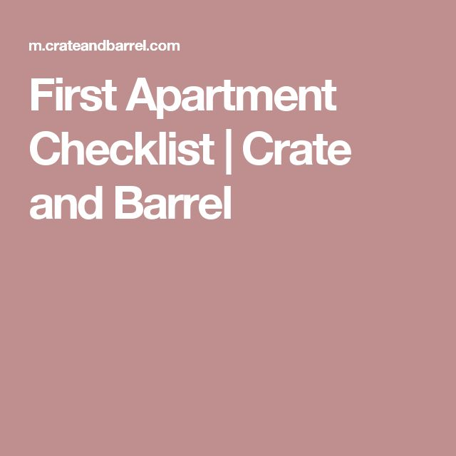 First Apartment Checklist | Crate and Barrel