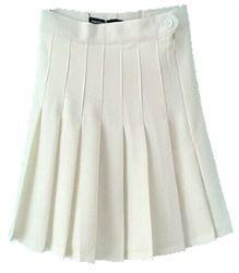 The List - 2 skirts (1 white pleated skirt, 1 black mini-skirt)
