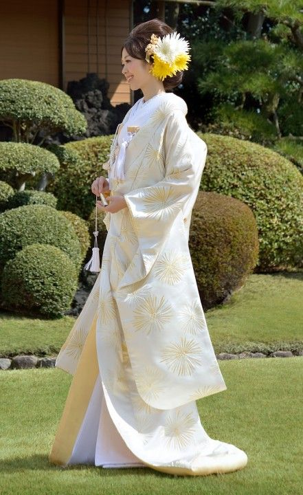 打掛 金銀ときわ 龍村 japanese kimono UCHIKAKE from Tatsumura