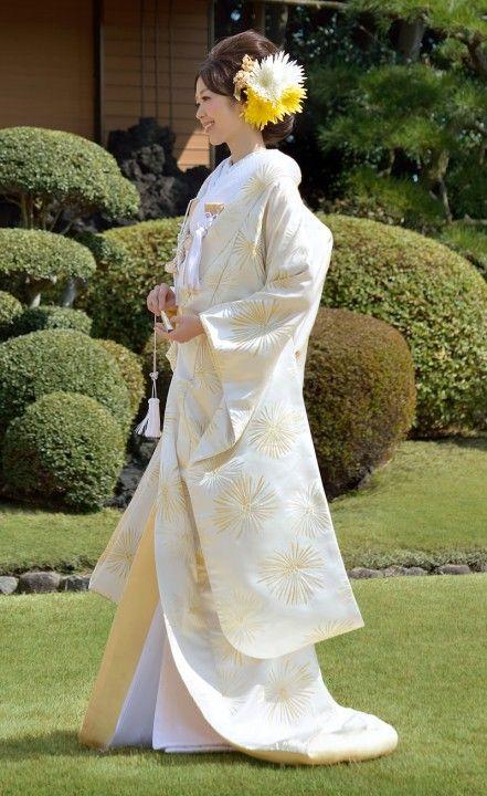 打掛 金銀ときわ 龍村 Japanese Kimono UCHIKAKE from Tatsumura.