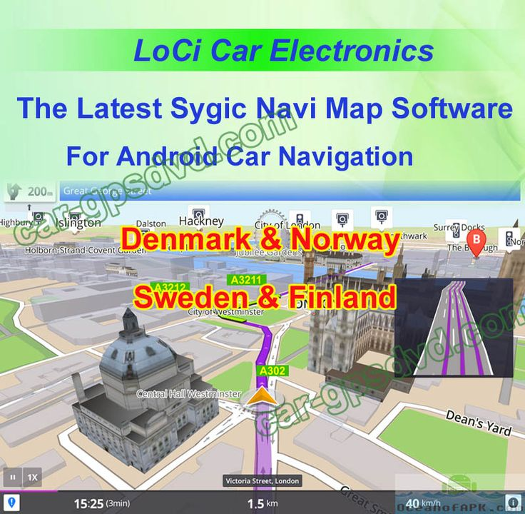 Sygic car navigation apk cracked maps for Europe Denmark Norway Sweden Finland
