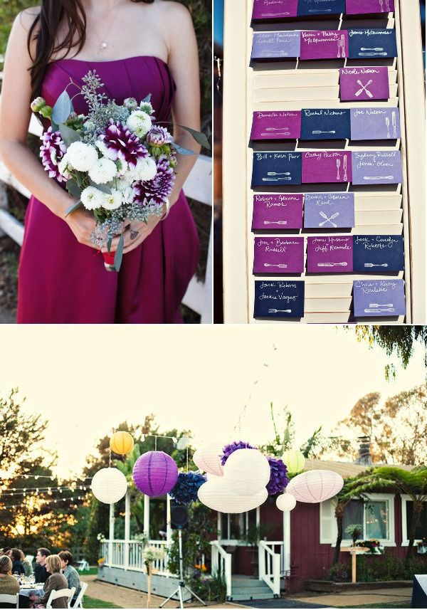 77 best images about lavender blue and fuchsia wedding Navy purple color