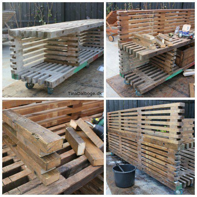 hvordan kan man bygge et udekøkken op af traller fra stilladser