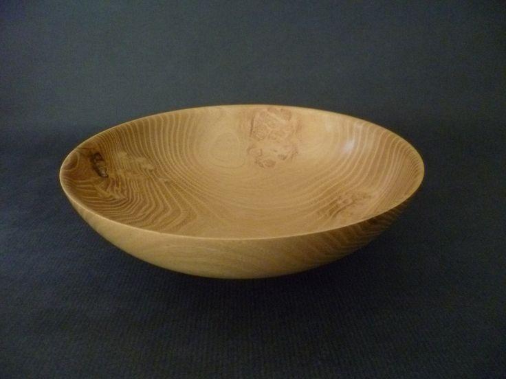 Assiette d'inspiration japonaise ( bol de riz ) en bois de robinier faux acacia de couleur jaune-orangée : Vaisselle, verres par atelierdubois