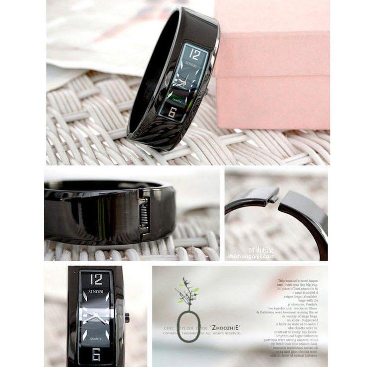 SINOBI Mulheres Cuff Wristwatch Impermeável Trendy Bracelet Moda Alloy Ladies Bracelet Watch