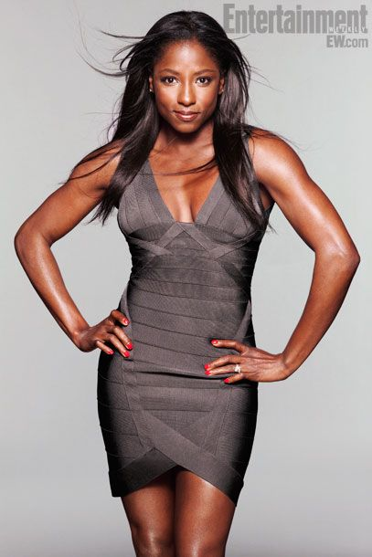 Rutina Wesley -- she is gorgeous. Love those arms.