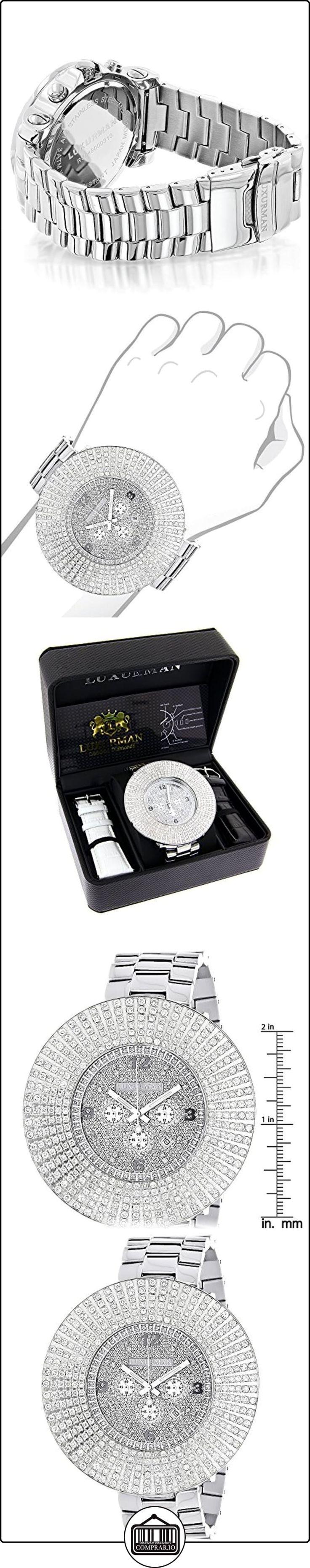 Large Diamond Bezel LUXURMAN Watch Escalade 14 ct Mens Hip Hop Watches  ✿ Relojes para hombre - (Lujo) ✿