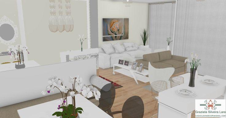 Construindo Minha Casa Clean: Decoração e Projeto das Salas Integradas com Varanda Gourmet - Moderna e Clean!