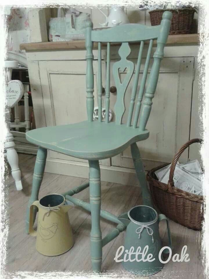 Duckegg Blue over English Yellow ~ Chalk PaintTM decorative paint by Annie Sloan.