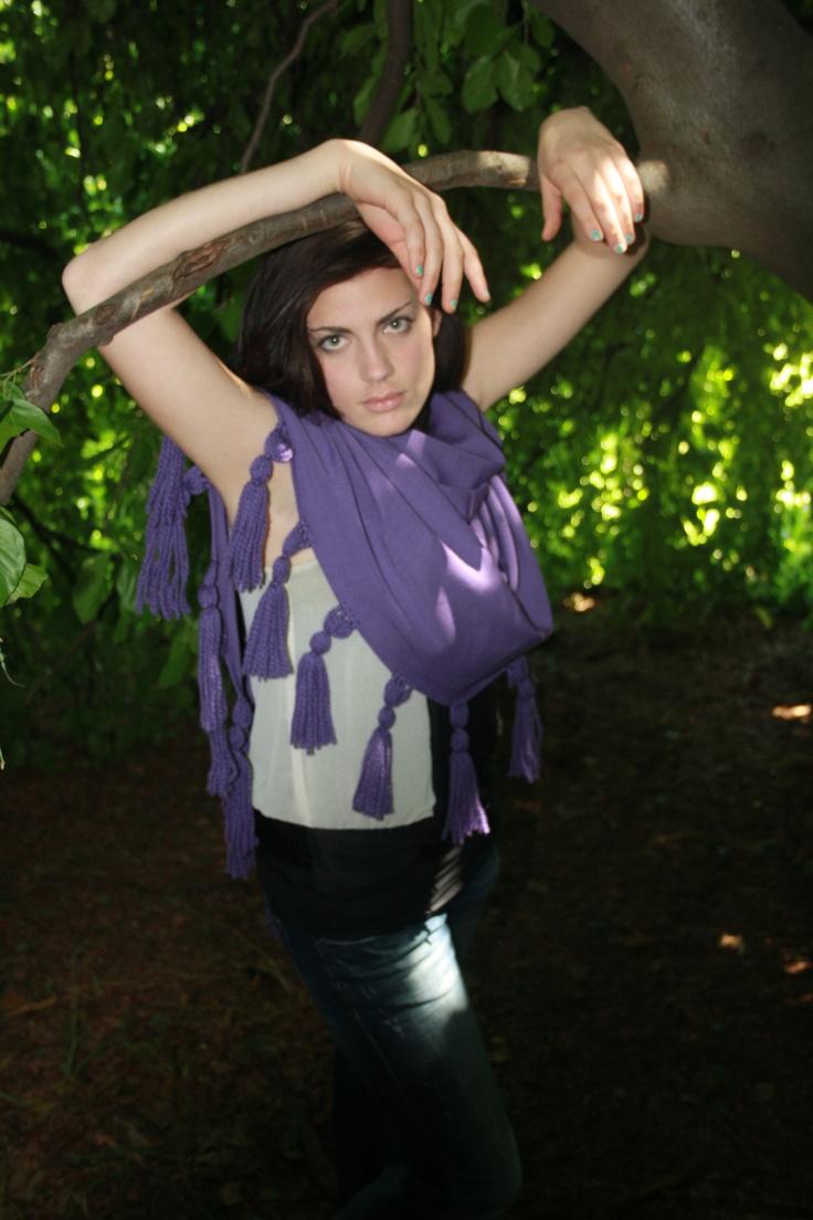 purple shawl silk #shawl #marinafinzi #shop.marinafinzi.com