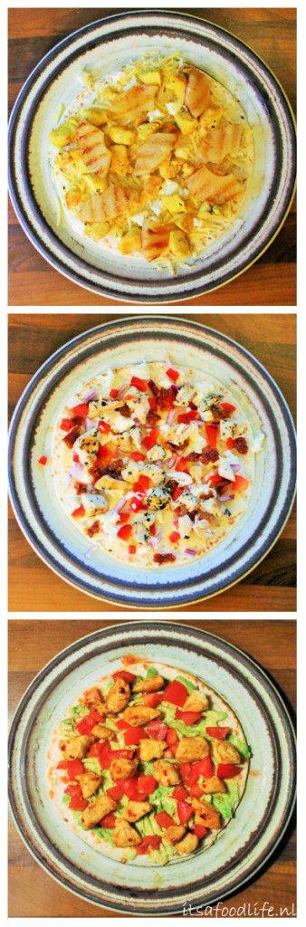 3x Quesadillas met kip! Quesadilla met Gegrilde ananas, Italian style en avocado. | It's a Food Life