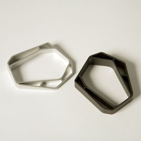 extruded aluminum bracelets - Stockholm Design Week 2008 : Swedish designers Claesson Koivisto Rune have designed a range of bracelets made of sliced extruded aluminium for jewellery brand Collection Pascale.