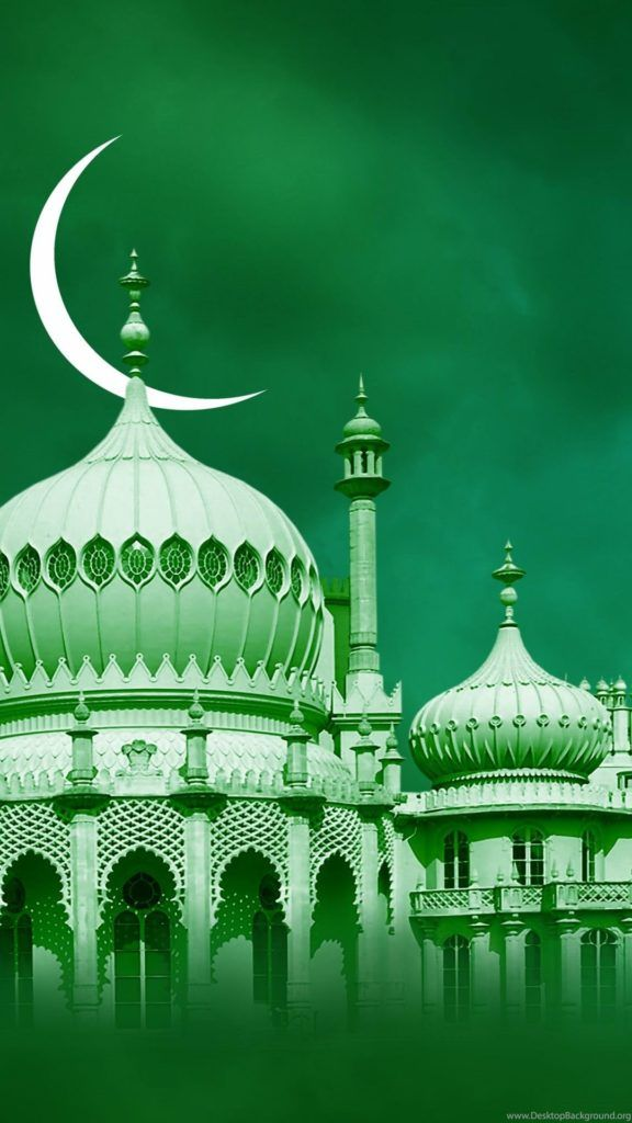 Wallpaper Green Mosque For Iphone Android Mobile Hd 1080 X