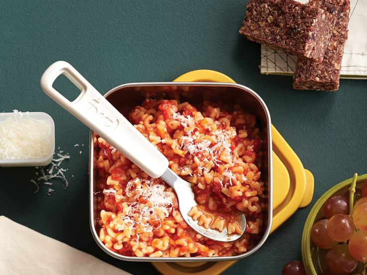 One of the easiest lunches you can pack, this alphabet pasta will fill them up good. Make it the night before and simply reheat for the Thermos.