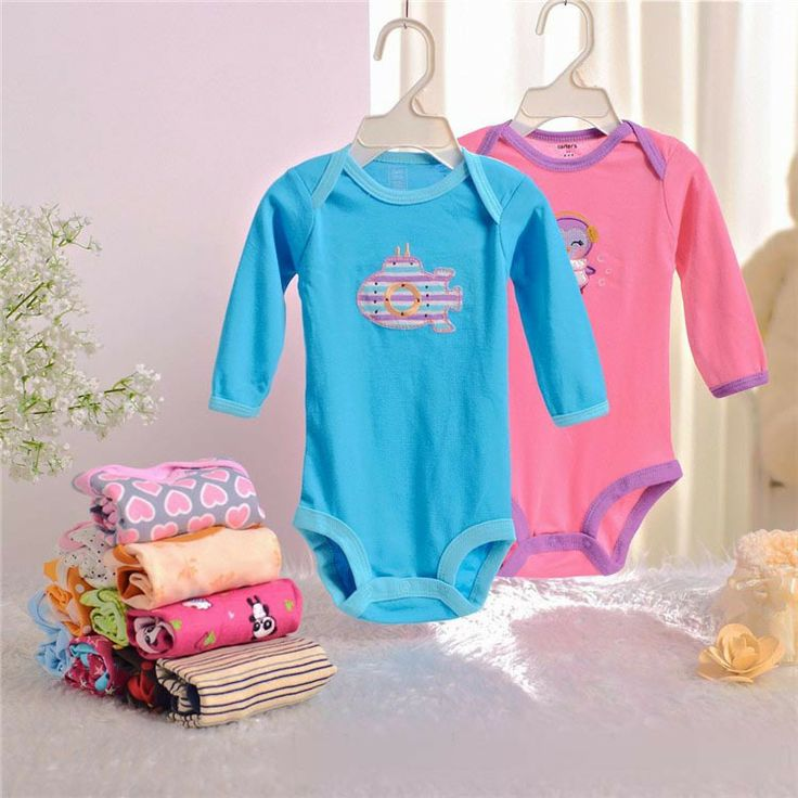 2014 Summer and autumn and spring baby clothes newborn Siamese  long sleeve triangle climbing clothing cotton bodysuit					 $7.90