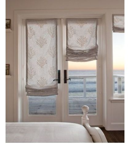 Elegant Relaxed Roman Shade   These Relaxed Roman Shades Are An Excellent Choice  For French Doors. Fabric Shades Bring Privacy As Well As Softening The Look  Of Any ...
