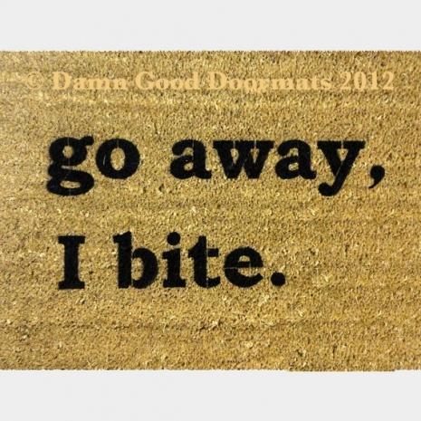Doormat Rude Doormat Go Away I Bite Outdoor Rug Mature