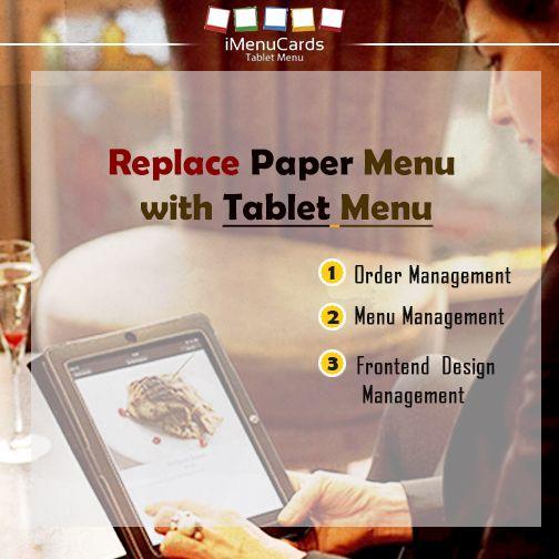 Paper menu is passé. Get #TabletMenu for your business. Visit us here: www.imenucards.in  #Imenu #TabletMenu