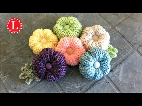LOOM KNITTING FLOWERS - Rib Stitch Puffy Flower Pattern Project on a Round Loom | Loomahat - YouTube