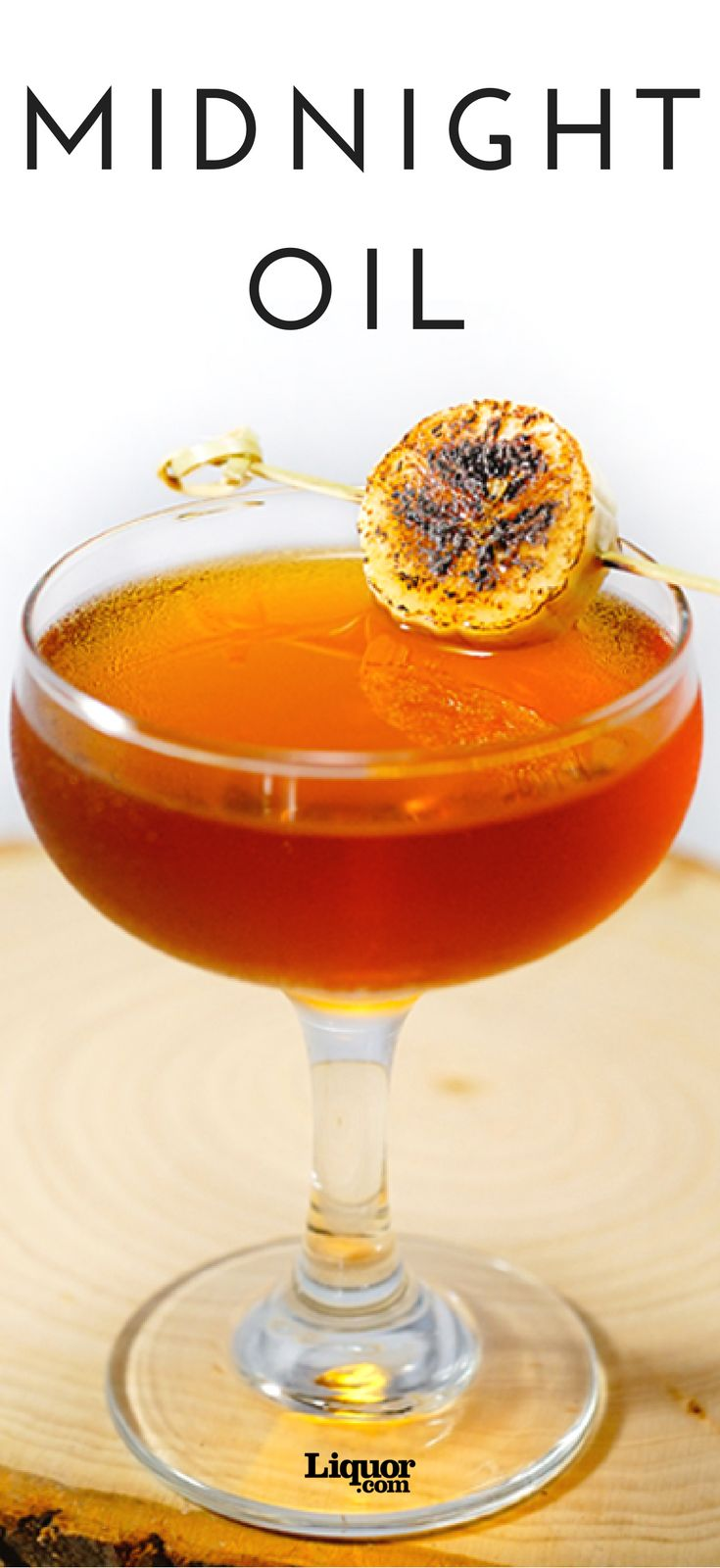 """""""The Midnight Oil brings to life in cocktail form one of my all-time favorite snack combos: a morning coffee and a slice or two of banana bread,"""" says bartender Brett Esler of Whisler's in Austin. """"With an aged rum base, a touch of the Domaine de Canton ginger liqueur for a little depth and some vanilla extract to round it out, you have yourself a slightly caffeinated, fall-driven sipper."""""""