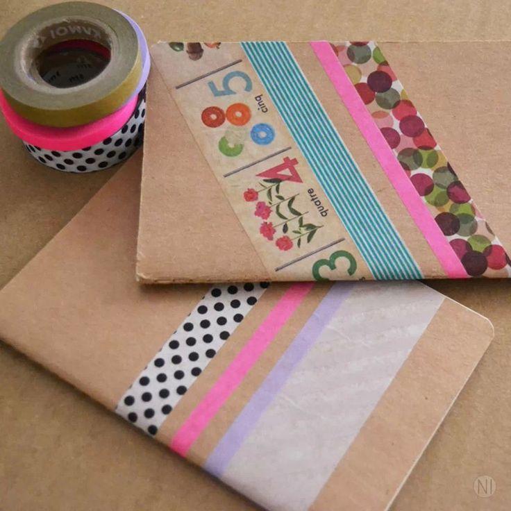Libretas decoradas con washi