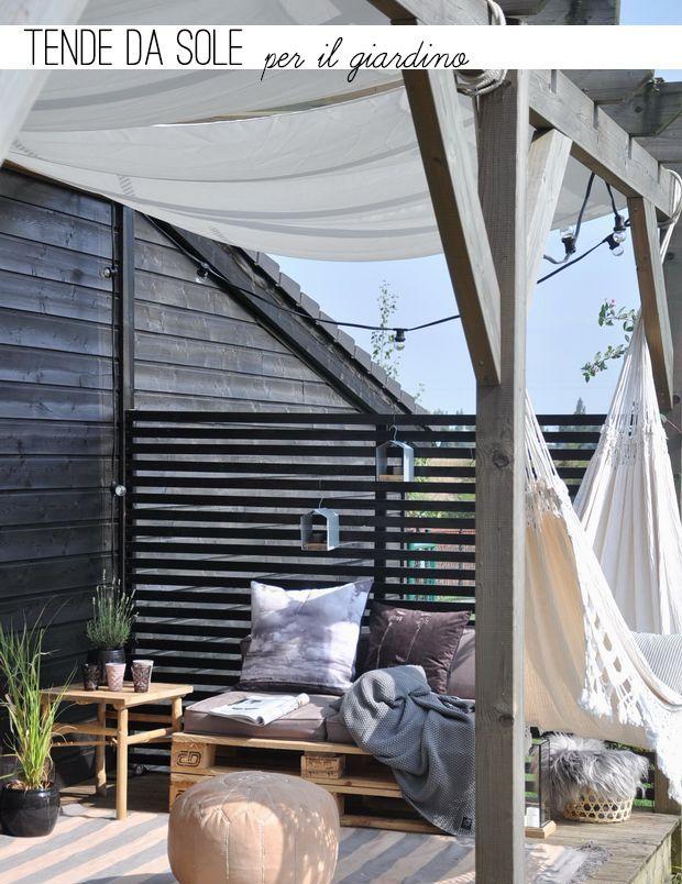 Arredare il giardino con le tende da sole Patii