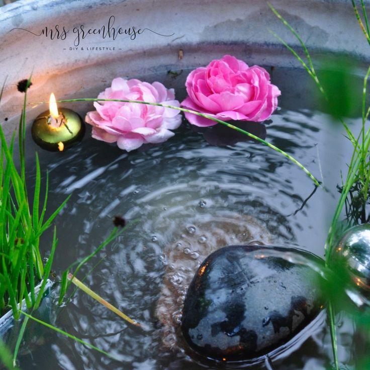 16 besten Miniteich Bilder auf Pinterest | Balkongarten, Garten ...