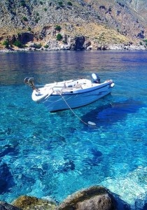 Wonderfully clear water at Loutro, Crete