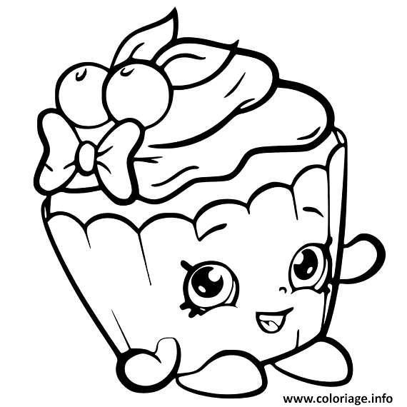 Image Cupcake A Imprimer Dessin De Cupcake Coloriage Shopkins