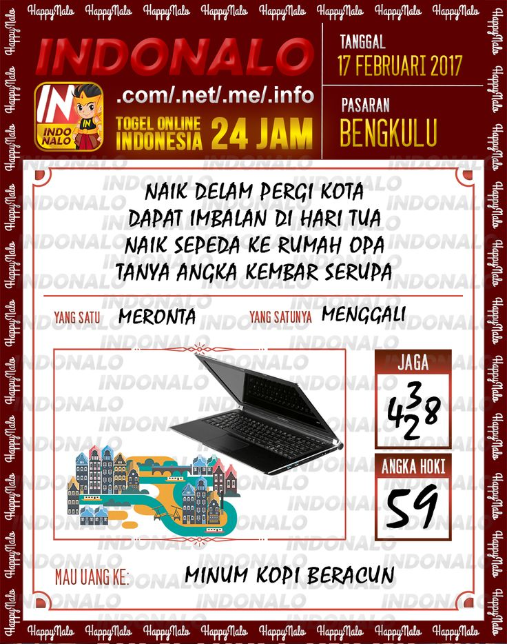 Angka Taysen 6D Togel Wap Online Live Draw 4D Indonalo Bengkulu 17 Februari 2017