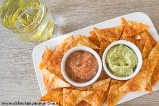 """Nacho's gemaakt van gebakken kaas uit """"de keuken van Martine"""" Gok groen"""