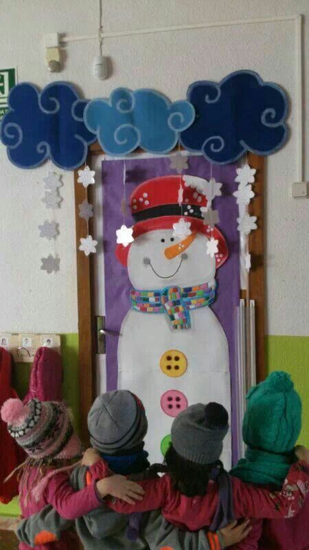 Cute idea for winter classroom decorating
