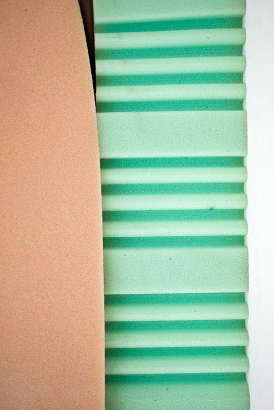 Studiopepe—Ossimoro cutting the foam with the bandersaw