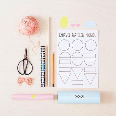 DIY Papieren mobiel