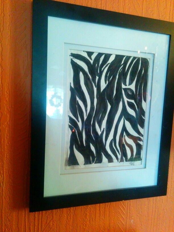 Zebra using sharpie