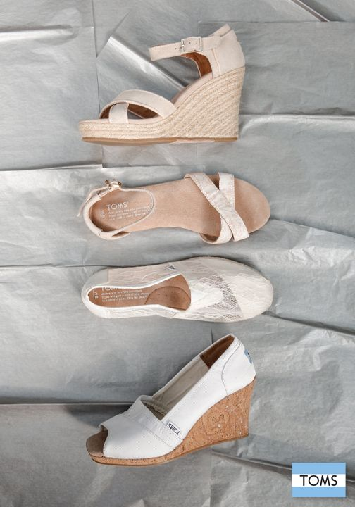 Say 'I do' in style in a pair of TOMS Wedding Shoes.