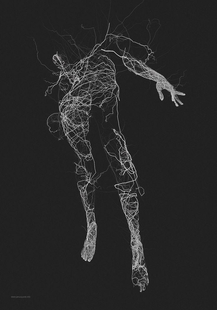 Generative Illustrations of the Human Form by Janusz Jurek