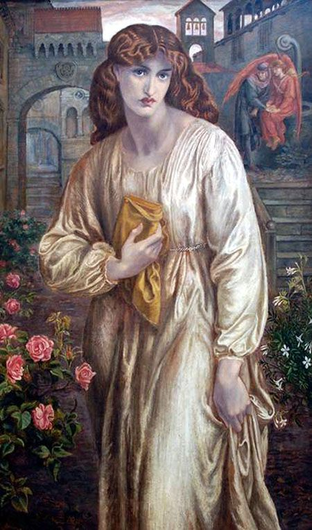 The Salutation of Beatrice - Dante Gabriel Rossetti 1881