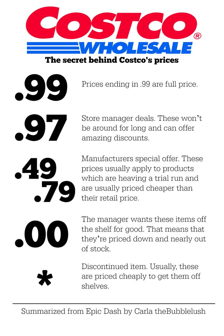 The secret behind Costco's prices. Tips for saving money and recognizing sales. | TheBubblelush