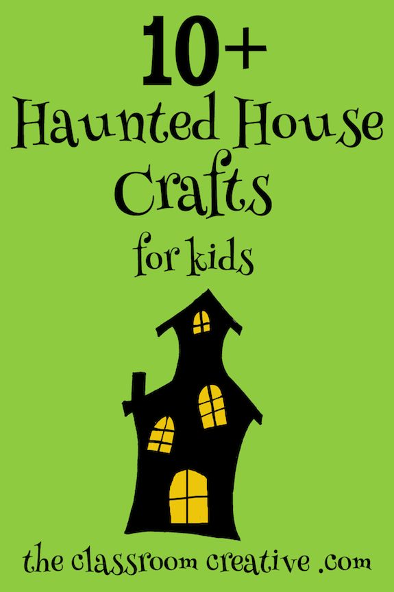 Spooky haunted house crafts for kids. This Halloween round-up have some great ideas!
