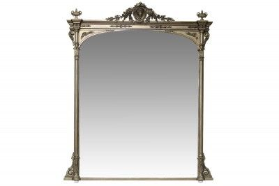 Large 19th century giltwood overmantle mirror
