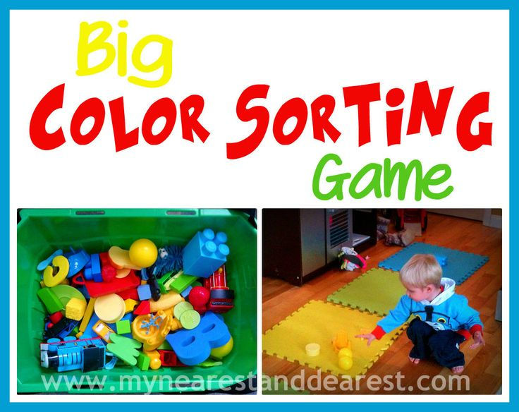 Color sorting movement for preschoolers and toddlers