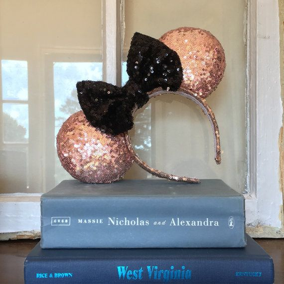 Sparkle Sequin oreilles Mickey Mouse argent par SimplyDarlingUS [22.90 €]
