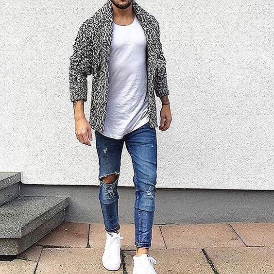 Les 17 meilleures id es de la cat gorie tenue de jean gris sur pinterest pantalons gris tenue - Tenue jean blanc ...