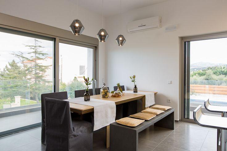 Villa Kastellakia in Rethymno, Crete #villa #rethymno #crete #greece #vacation_rental #luxurious_accommodation #privacy #holidays_in_Crete #visit_greece #dining_area