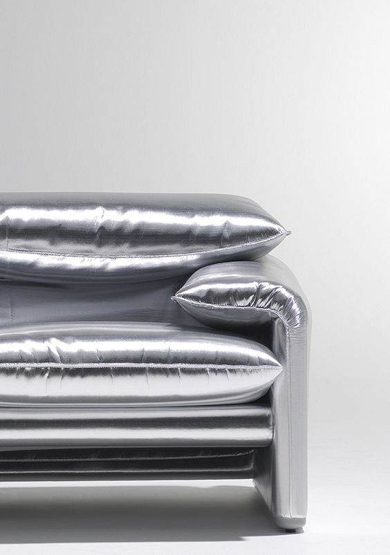 "thedesignwalker: ""Metallic sofa Via http://bit.ly/tdwalker """